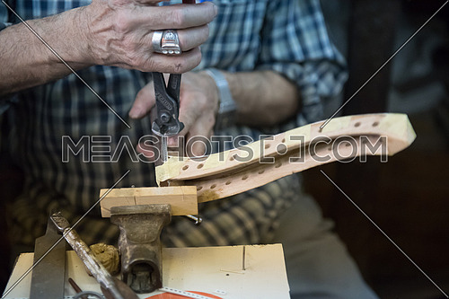 Assembling the front cover of an oriental Egyptian Oud