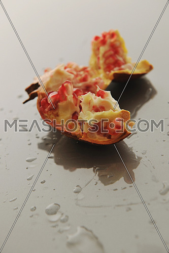 fresh and healthy fruit food Pomegranate isolated on white