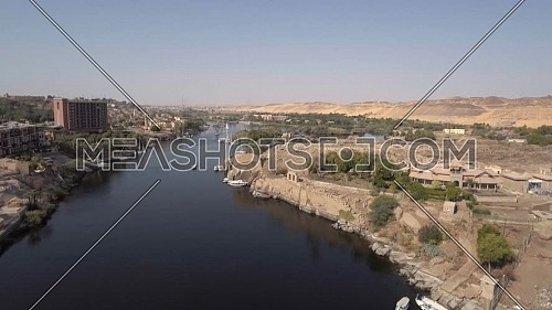 flying over Nile River in Aswan