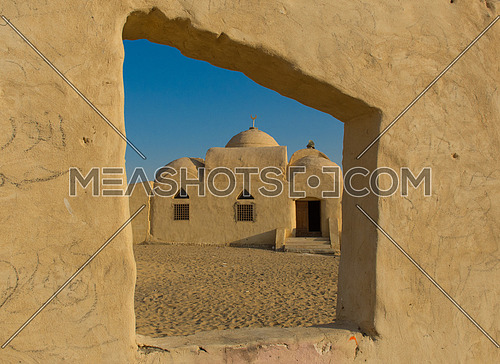 a mosque in wadi al rayan, egypt.