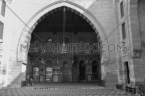 The front side of a historical mosque in Black