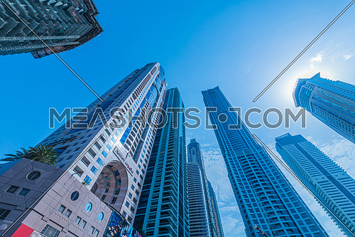 Dubai - JANUARY 10, 2015: The Marriot Hotel on January 10 in UAE, Dubai. Marriot Hotel is popular 5-star hotel.