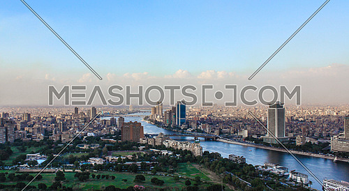 A view showing the island of zamalek in greater Cairo, Egypt