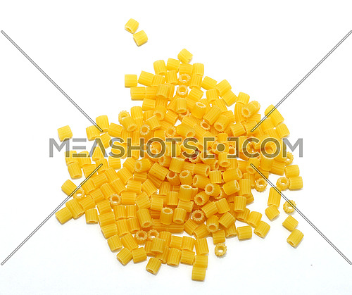 macaroni on a white background
