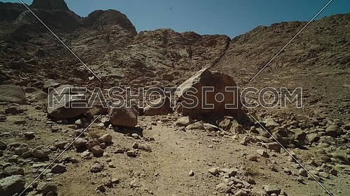 Revealing shot for Sinai Mountain from Wadi Freij at day.