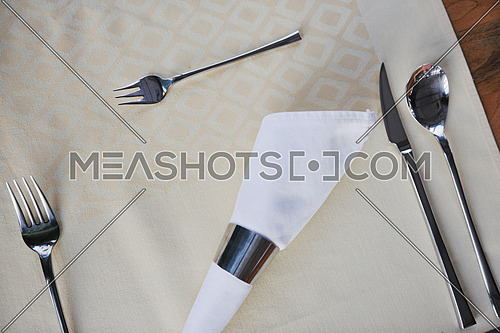 luxury restaurant indoor with nice cutlery and decoration