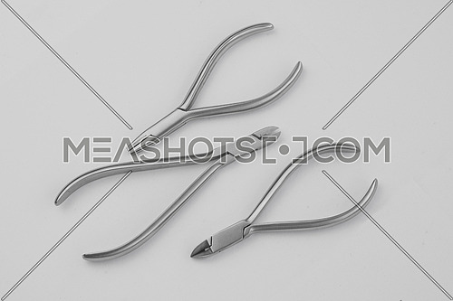 Closeup of professional dental tools.Selective focus