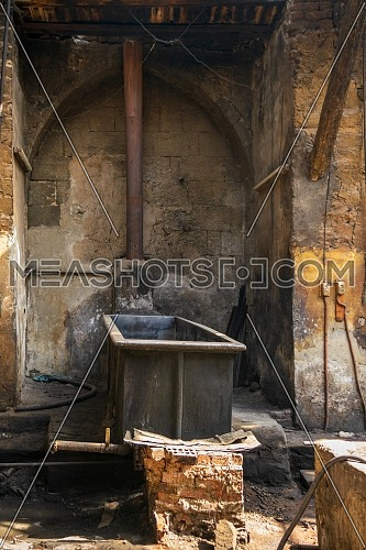 Old abandoned textile dyeing Plant, Old Cairo, Egypt