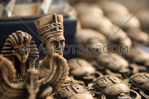 Statues of Egyptian Pharaoh in market,Egyptian traditional culture souvenirs