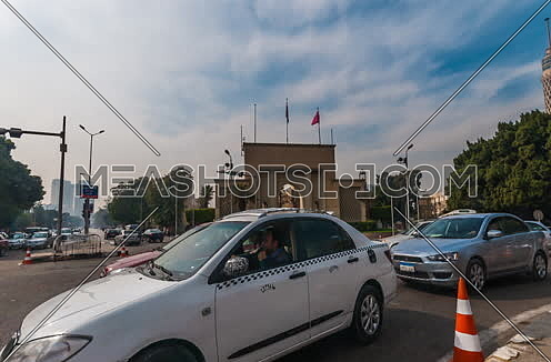 Zoom In Long shot for Cairo Opera House Gate at Day