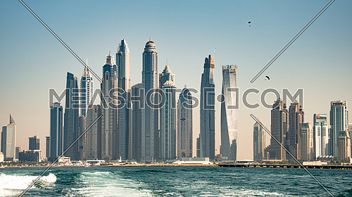 Dubai Marina tower from the sea