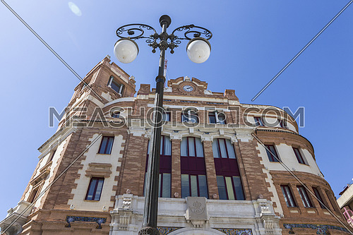 Cadiz, SPAIN - March 31: Building post office, It was constructed in 1925,It is located in the Plaza de las Flores,  next to the Central market,  of style regionalist with some modernist tones, take in Cadiz, Andalusia, Spain