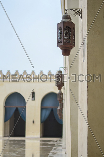A view from one of the Hakim Be Amr-allah  mosque showing the side lanterns.