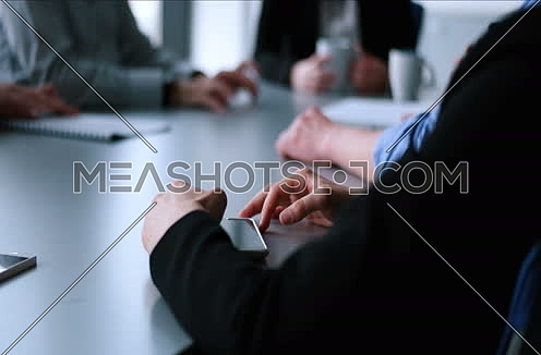 casual business people having meeting in corporate enviroment