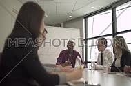 multi ethnic business people in a meeting