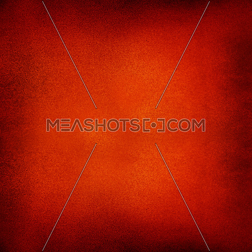 Abstract vivid grunge red background with noise grain texture and dark brown corners vignette