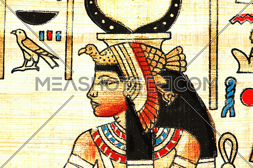 Close up of the ancient  egyptian papyrus