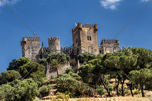 Castle of Almodovar del Rio, It is a fortitude of Moslem origin, it was a Roman fort and the current building has definitely origin Berber, placed close to the Guadalquivir, take in Almodovar of the Rio, Spain