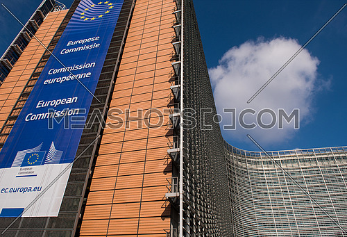 The Berlaymont building in Brussels, Belgium, the headquarters of the European Commission