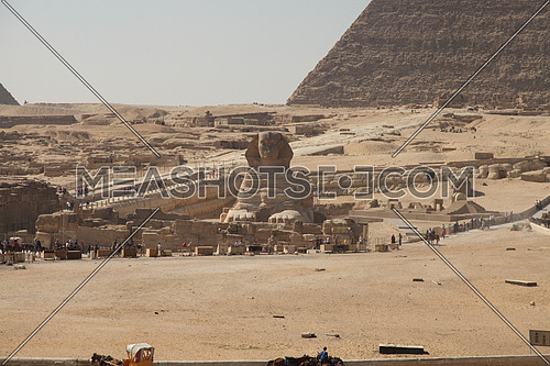 Long Shot for Cecil Area in Alexnadria at sunrise shot for the sphinx in Giza at day