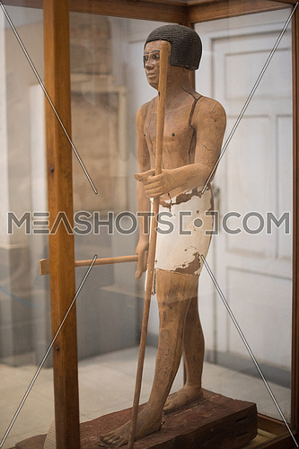 The One and only one wooden Statue  in the Egyptian Museum known as