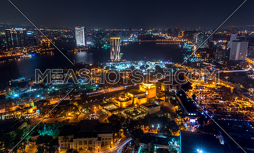 Great cairo view from Cairo tower showing opera house