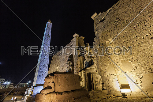 Low angel shot for Luxor Temple at Night