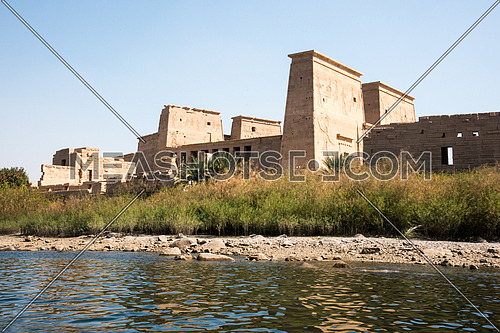 Island of Philae Isis Temple From the River Nile View