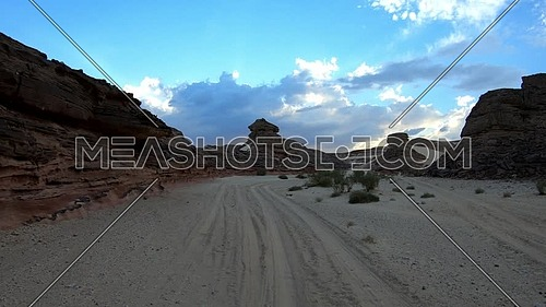 Follow shot for Wadi Agarat in Sinai at day
