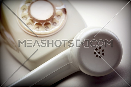 Vintage phone of years 60, conceptual image