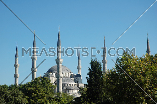 sultan ahmet Mosque with six minarets in Istanbul, Turkey - known as Blue Mosque