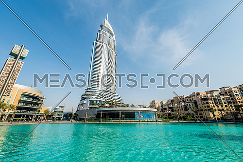 Dubai - JANUARY 10, 2015: The Address Hotel on January 10 in UAE, Dubai. Address Hotel is popular 5-star hotel.