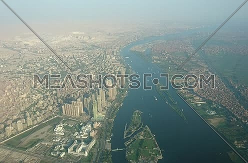 Arial shot for a city from above