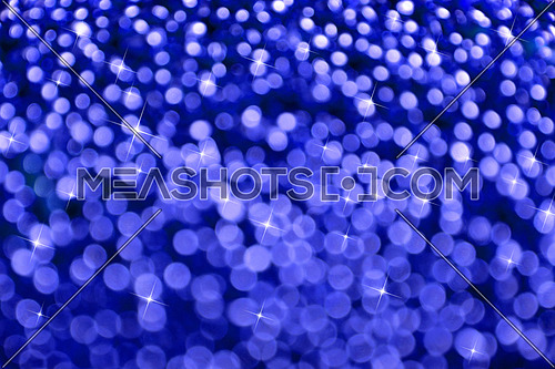 Winter night blue glitter bright magic fairy light snow flakes circles christmas abstract blur effect background