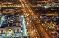 Al Malek road at night in Jeddah, Saudia Arabia