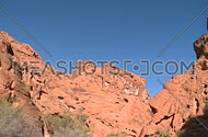A down pan view of the southern Nevada desert in and around the valley of fire.