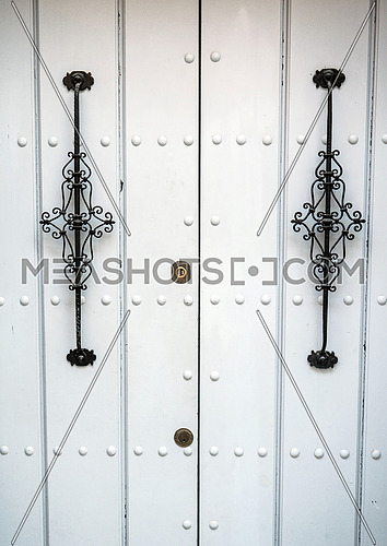 Typical house door in andalucia, conceptual image