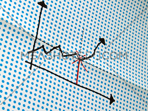 graph drawing on dotted background