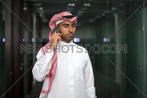 Busy man with his phone