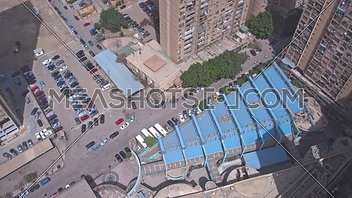 Fly Up Top Shot Drone reaveling maadi area in 22th of March 2018 at day.