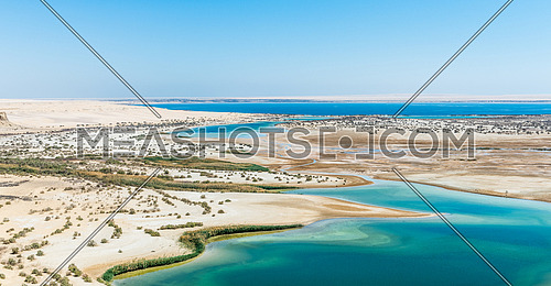 fayoum, magic lake , the view from above the magic lake