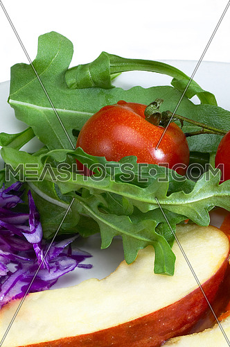 colorfull fresh salad ingredient on a plate prepared cutted
