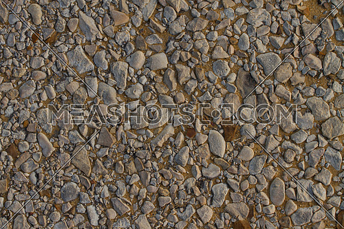 gravel and stones in the ground