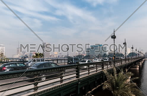 Track Right Shot for Qasr Al Nile Bridge at Day
