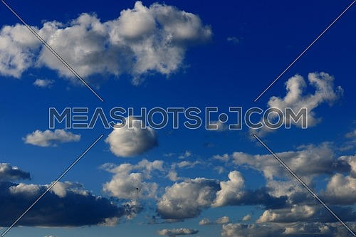 Blue sky with dramatic clouds nature background