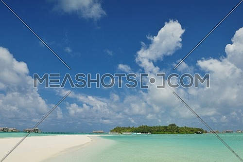 tropical beach nature landscape with white sand at summer