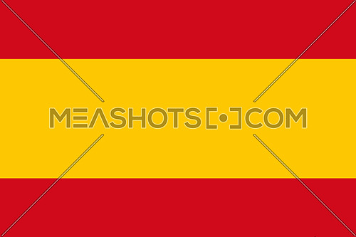 Spanish National Flag With Coat Of Arms 3D illustration