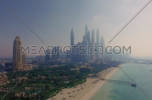 Arial Shot for Dubai City from the Gulf Side at day