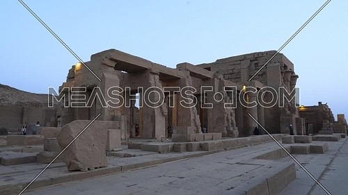 Track in for The Temple of Kom Ombo - Aswan, Egypt. by day