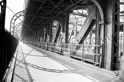 Vintage Cairo  Black & white photoset from the bridge of Imbaba; the only railway bridge across the Nile in Cairo, was built in 1912 & 1924 in Egypt